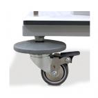 4 wheels with individual brake